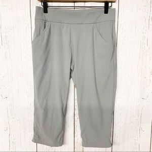 Columbia grey water repelling cropped hiking pants